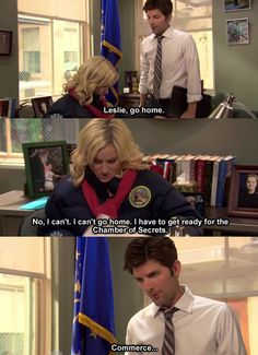 One of my favorite things about Parks & Recreation is how many HP references they try to fit in.