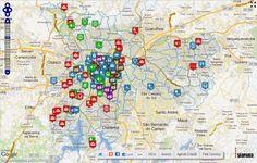 A plataforma permite que o usuário busque ou cadastre organizações que proporcionam diversas formas de participação cidadã no município de São Paulo.