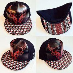 79edcd78 Custom Painted Grassroots California Hat by MAMA ANA Snapback Hats, Custom  Paint, Wearable Art
