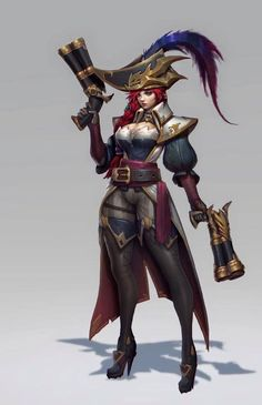 Miss Fortune - Champions - Universe of League of Legends Miss Fortune, Lol League Of Legends, Character Concept, Character Art, Concept Art, Character Design, Armor Concept, Character Ideas, Fantasy Characters
