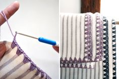Learn how to crochet the edges of a blanket with this tutorial.