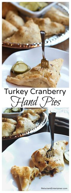 These Turkey Cranberry Hand Pies are the perfect after-Thanksgiving snack, lunch, or dinner using leftover turkey and cranberries! Turkey Recipes, Fall Recipes, Holiday Recipes, Duck Recipes, Holiday Appetizers, Holiday Foods, Meat Recipes, Mini Quiches, Thanksgiving Snacks