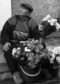 #Flower #Seller #Greeting #Card by Judi Saunders