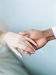Minimalist wedding inspiration in tones of blush, ivory, and grey | Wedding Sparrow