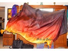 Sahariah's Silk Belly Dance DUET Rectangle Veils Duet Veils TWO 3 Yard Rectangle Killer Silk Original Veils Silks by Sahariah by SilksbySahariah on Etsy