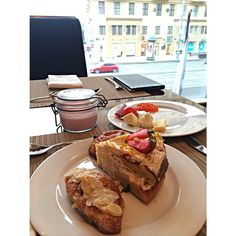 Indulging into our delicious breakfast! Photo by `@da_cha  #breakfast #dessert #cake