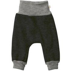Pantalonii lejeri Disana sunt creați pentru bebeluși și copiiastfel încât să poată explora mediul înconjurător.  Pantalonii sunt prevăzuți cu un brâu înalt și lejer în talie  care va păstra spatele și burtica copilului la căldură. Croiul mare lasă suficient spațiu pentru scutec și pentru straturile de dedesubt care conferă micului explorator libertate de miscare. Lâna fiartă de la Disana este creată pentru a fi călduroasă și rezistentă, dar în același timp moale.   Mărimi: 62/68-98/104. Leggings, Harem Pants, Sweatpants, Wool, Material, Products, Fashion, Grey, Color Black