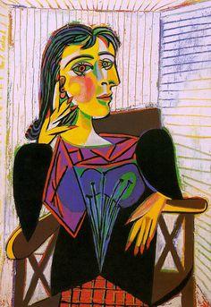 Retrato de Dora Maar. Pablo Picasso, 1937.