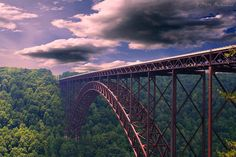 New River Gorge Bridge, in WV.  I've hiked around here..but no base jumping from the bridge. :)