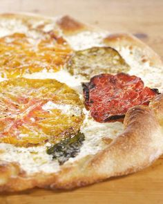Use this fantastic dough recipe, adapted from the May 2009 issue of Martha Stewart Living, to make Oven-Dried Heirloom Tomato Pizza (pictured) and Shiitake Mushroom Pizza.