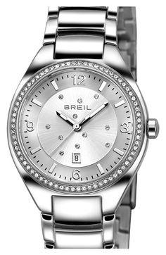 Breil 'Precious' Crystal Bezel Bracelet Watch, 32mm