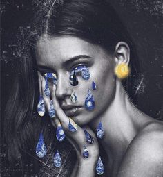 Week 2 submission 4 - inspirational, reflection- I like this because it is so different, I've never seen a collage made like this. I like how she used tears and rain and her earring as the sun/moon Creative Photography, Art Photography, Photocollage, A Level Art, Art Hoe, Gcse Art, Surreal Art, Aesthetic Art, Collage Art