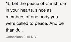 Colossians 3:15 (NIV)