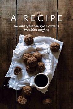 Amazing autumn spice oat, rye + banana breakfast muffinsy by Tiffany Mitchell on Steller