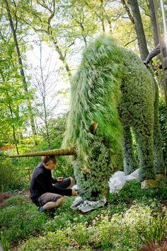 Unicorn living sculpture at Atlanta Botanical Garden