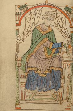 Getty Museum.Eadmer of Canterbury Writing, from Life and Conversations of Anselm of Canterbury
