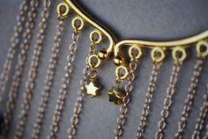 Gemstone Gold Ear Wrap Garnet Amethyst Pearl by ElysianEarwear