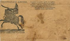 RARE Confederate Civil War Mounted Dragoon with Sword Raised Patriotic Envelope