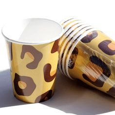 Leopard Print Party Cups Leopard Birthday Parties, Cheetah Birthday, Leopard Print Party, Animal Print Party, Animal Print Decor, Birthday Party Themes, Birthday Ideas, 9th Birthday, Cheetah Print