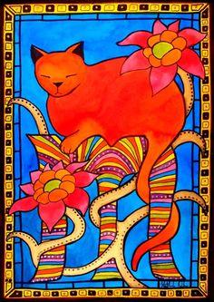 Cats of Karavella: Sleeping Beauty - Cat Art by Dora Hathazi Mendes #catart #catpaintings