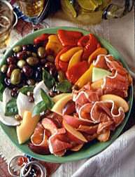 Antipasto Platter with Prosciutto di Parma and Fruit