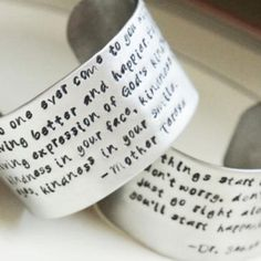 Personalized Cuff Bracelet by River Valley Designs | shoptaupe.com