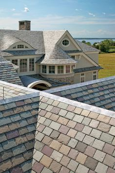 Sweeney-Bros-Slate-Roofs by Boston Design Guide Verona, Roof Sealant, Roof Installation, Solar Roof, Roof Tiles, Roof Repair, Roof Design, House Roof, Metal Roof