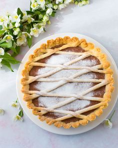 Crostata with Rhubarb Pudding - Raparperikiisselipiirakka Rhubarb Pudding, Pie Tin, Vanilla Sugar, Italian Desserts, Crust Recipe, Summer Desserts, A Food, Food Processor Recipes, Yummy Food
