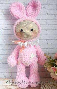 link to free pattern Crochet Rabbit, Crochet Bunny, Crochet Animals, Crochet Dolls, Crochet Amigurumi Free Patterns, Easy Crochet Patterns, Handmade Crafts, Handmade Toys, Crochet Quilt