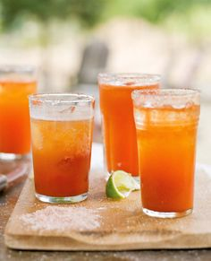 Michelada : Mexico's version of a Bloody Mary (it's lighter, but great for hangovers!)