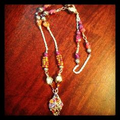 This necklace was made by Lisa of Listiques for Artists Helping Hands. The necklace is up for auction on the Artists Helping Hands Facebook page. Beads of Courage project. Bid on the jewelry and the proceeds go to the charity. Bidding ends in one month - October 25th.  https://www.facebook.com/photo.php?fbid=272823992829260=o.259638884122016=3