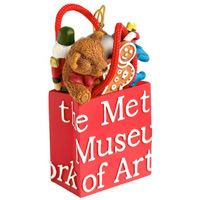 The Metropolitan Museum of Art Shopping Bag with Toys Christmas Ornament