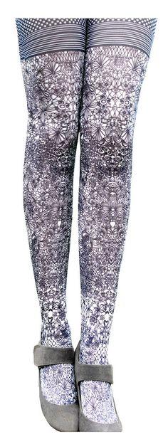 Retrouvez Marie-Antoilette Marie-Antoilette collant fantaisie Eva noir gris étoiles avec Shoppinity