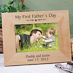 Personalized My First Father's Day Frame