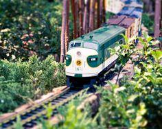 model train photo print