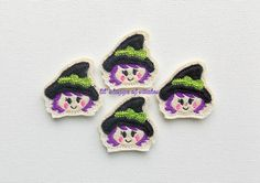 Hey, I found this really awesome Etsy listing at https://www.etsy.com/listing/196880102/embroidered-felt-little-witch-felties