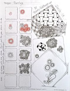 "Zentangle Pattern ""Purrliz"" by Zenjoy Schweiz"
