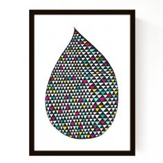 Affiche Coloured Drop