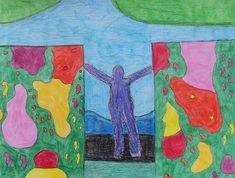 A drawing by Maranda Russell Autistic Artist, Naive Art, Outsider Art, The Outsiders, Folk, Art Gallery, My Arts, Drawings, Artwork