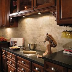 Kitchen Backsplash With Cherry Cabinets ivory granite with cherry cabinets | modern kitchen with cherry