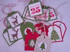 christmas tags punch