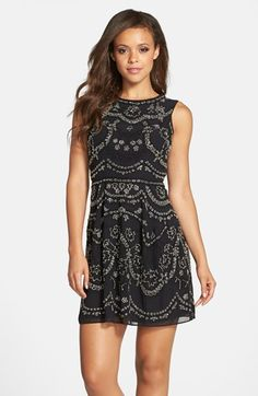 Needle & Thread Embellished Georgette Fit & Flare Dress available at #Nordstrom