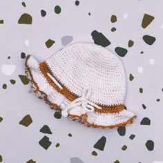 Crochet hat handmade of Van Beren Organic Cotton Yarn for baby girls and toddler with binding. Cotton Plant, Organic Cotton Yarn, Outfit For Christening, Natural Clothing, Knitted Fabric, Crochet Hats, Van, Textiles, Wool