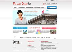 Proposition de visuel site internet Françoise Dubois, Députée de la Sarthe