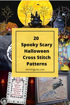 Spooky Scary, Scary Halloween, Michaels Craft, Halloween Cross Stitches, Hobbies That Make Money, Types Of Craft, Rafting, Witches, Cross Stitch Patterns