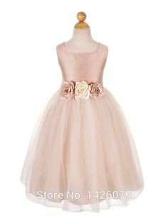 This is a simple Pink Dress and classic, short sleeved Flower Girl Dress that comes with a beautiful beading on waist line. Description from dresses5.com. I searched for this on bing.com/images