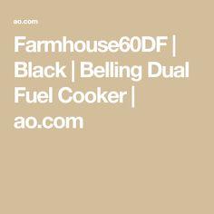 Farmhouse60DF   Black   Belling Dual Fuel Cooker   ao.com Dual Fuel Cooker, Cast Iron Wok, Electrical Connection, Electric Fan, Energy Consumption, New Flavour, Cavities