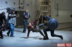 behind the scenes of Captain America the Winter Soldier