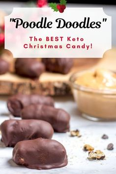 A delightful peanut butter candy with nuts and coconut, all dipped in chocolate. These will soon become one of your favorite Christmas candies! (Read on to learn more about the name!) This recipe makes a perfect keto, low carb candy, and is also a Trim He Keto Cookies, Cookies Et Biscuits, Keto Friendly Desserts, Low Carb Desserts, Low Carb Recipes, Low Carb Sweets, Ketogenic Recipes, Ketogenic Diet, Healthy Recipes