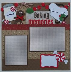 This is a one page 12x12 premade scrapbook layout page. There are two mats for…